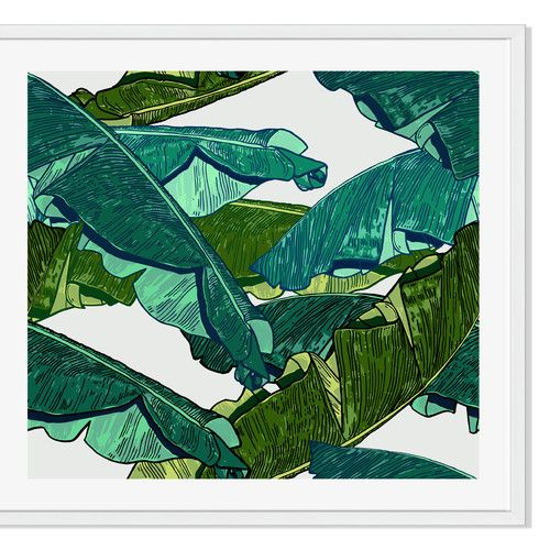 Found it at Joss & Main - Banana Leaves Framed Print