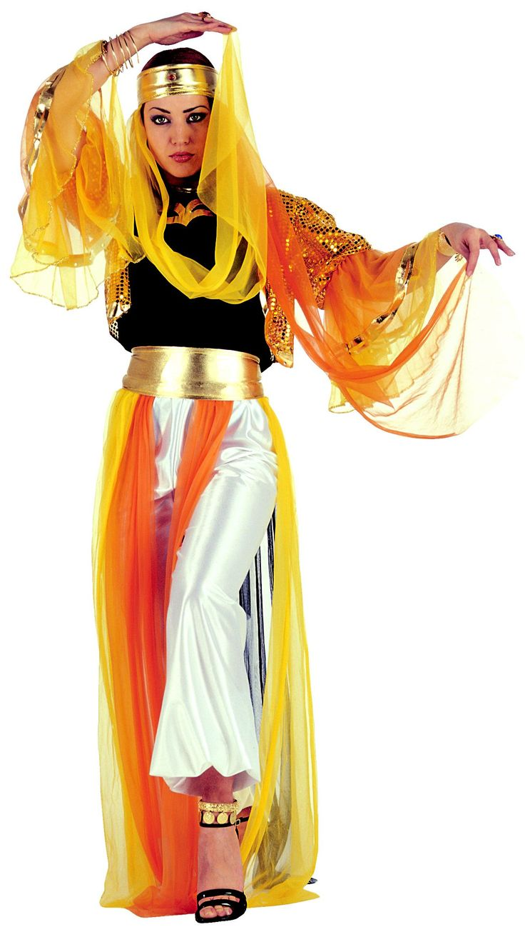 Kostuum van een oosterse danseres voor dames : Vegaoo Volwassenen Kostuums