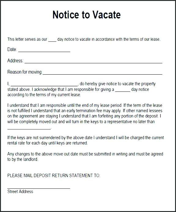 Letter To Tenant To Leave Rental 60 Day Notice Sample Google
