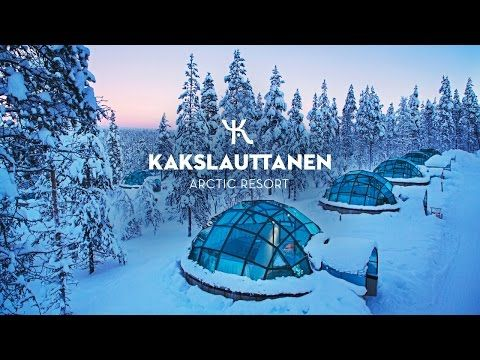 Oh I so want to go here!! ❤❤❤ OFFICIAL Kakslauttanen Arctic Resort in the Wintertime - NEW LONG EDITION - YouTube