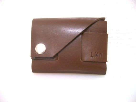 Personalized Leather Wallet Monogrammed Groomsman by leathermix