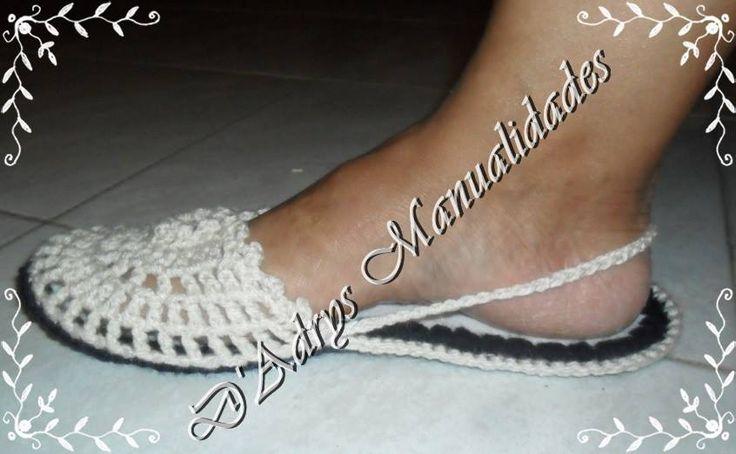 Sandalias tejidas | D Adrys Manualidades Tejidas en Crochet y Dos ...