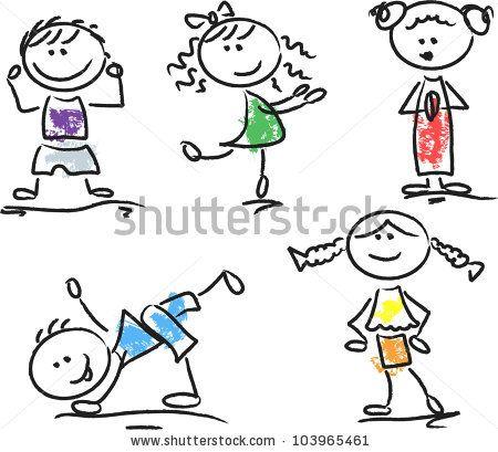 cute happy cartoon kids stock vector 103965461 shutterstock