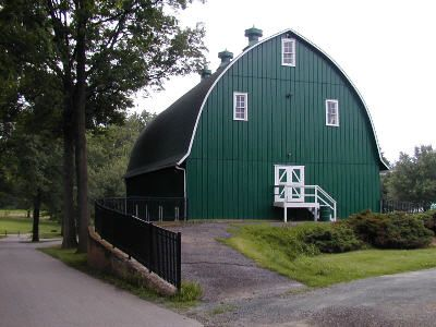 Well Maintained Green Barn