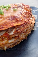 Mexican: Fun Recipe, Mexicans, Enchiladas Stackfrom, Stacking Enchiladas,  Meatloaf, Meat Loaf, Savory Recipe, Cheesy Enchiladas, Enchiladas Stacking