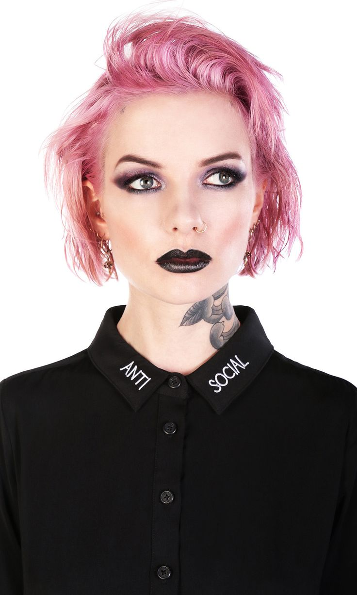 Anti-Social Shirt #disturbiaclothing disturbia embroidery metal alien goth occult grunge alternative punk