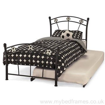#Football bed frame with extra guest bed - perfect for sleepovers! mybedframes.co.uk