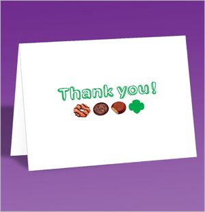 GSUSA Free Cookie Thank you card