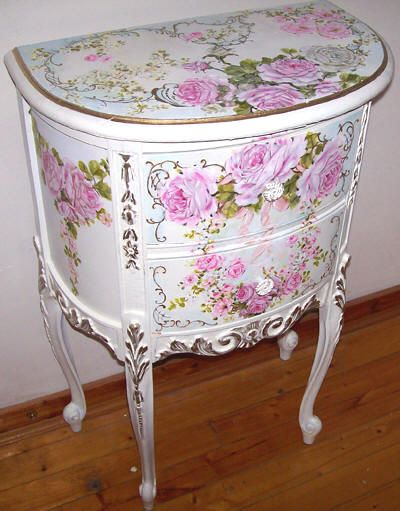 Romantic Rose Paintings And Cherubs Art By Catherine Risi. Find This Pin  And More On Hand Painted Furniture ...