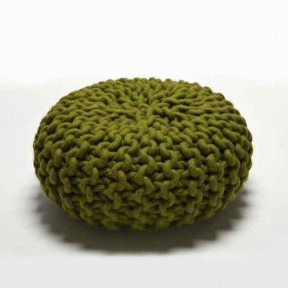 Handknitted urchin pouf green by christien meindertsma for thomas eyck http www - Pouf eigentijds ontwerp ...