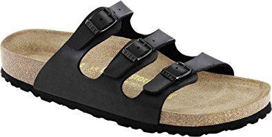 7064c0145929 Birkenstock Women s Florida Soft Footbed Birko-Flor Black Sandals – 42 EU  (M9