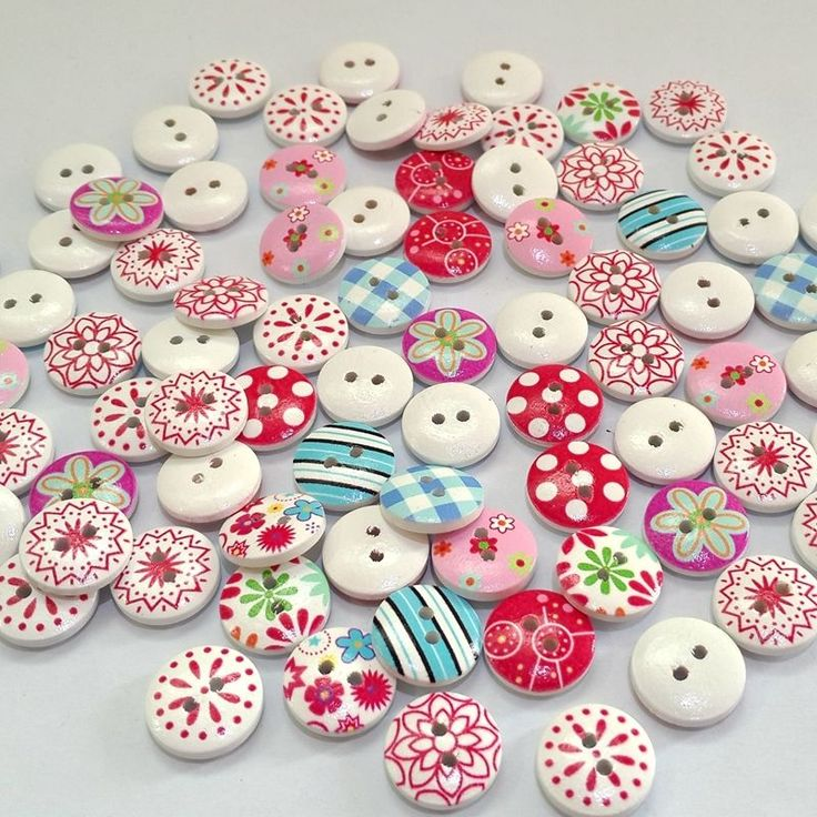 Fairisle Style Buttons | 6 pack