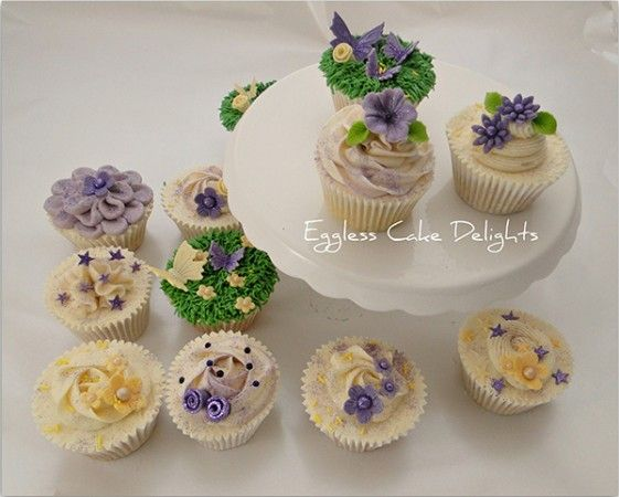 Pretty cupcakes from Eggless Cake Delights