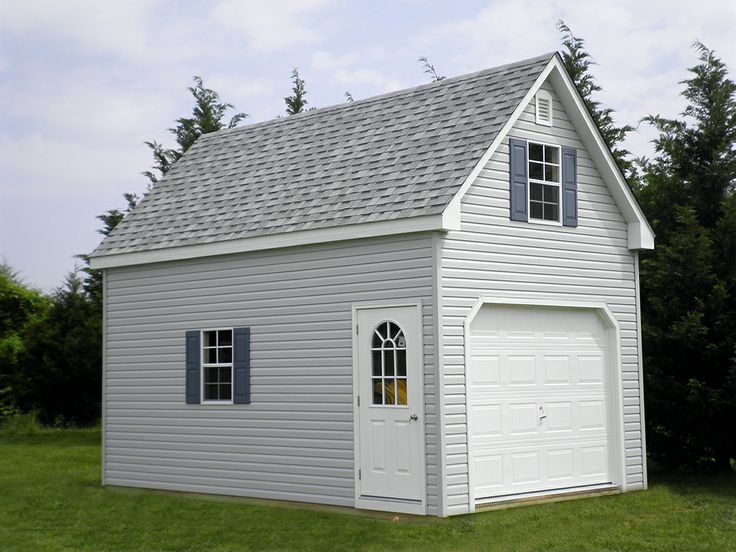 Horizon Structures 1 Car 2 Story Prefab Garages Come In Sizes 12x12 To