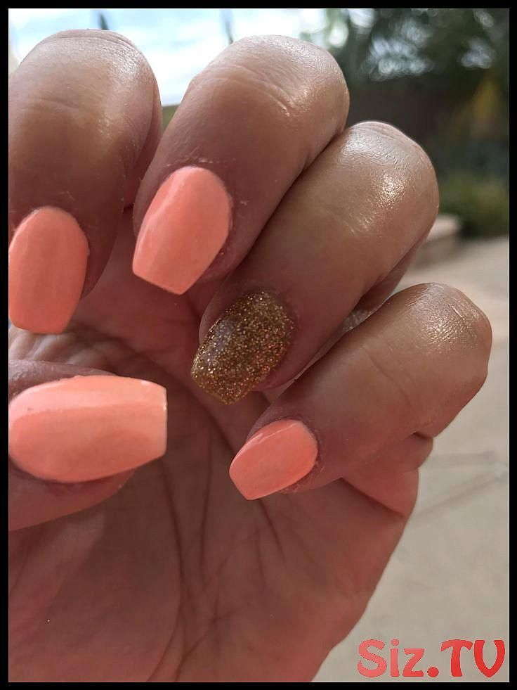 Dip Launching Mani Moguls Nails Neon Peach Perfect Powder