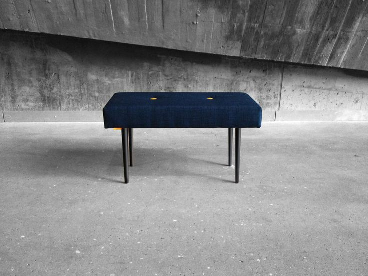 BENCH | take a seat | navy with black lacquer legs www.benchtakeaseat.com