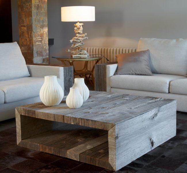 M s de 25 ideas incre bles sobre mesas de centro rusticas for Mesa salon madera