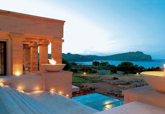 A five-star spa resort on the Athens Riviera with ancient temple views - includes half-board, a sea-view bungalow and all travel