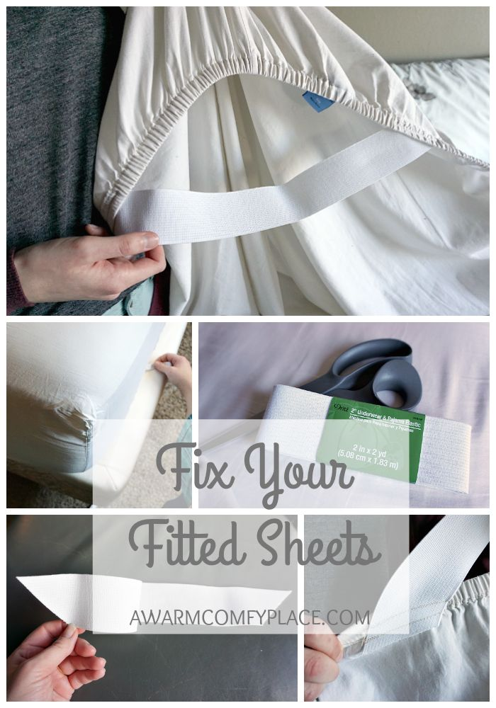 Fix Your Fitted Sheets A Warm Comfy Place Sewing Sewing