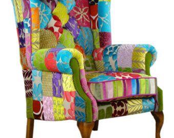 Nueva silla de Patchwork de terciopelo del gremio de diseñadores
