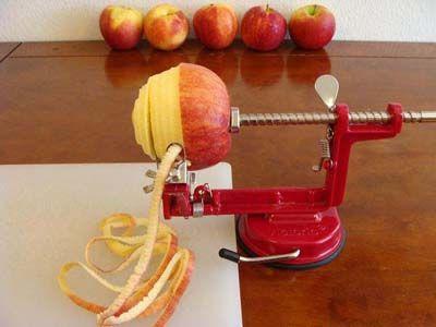 Gadget για ξεφλούδισμα μήλων