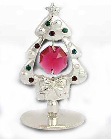 Árbol de Navidad plateado con Cristales de Swarovski 8'12€