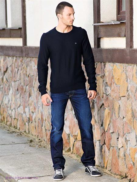 Темно синие мужские джинсы
