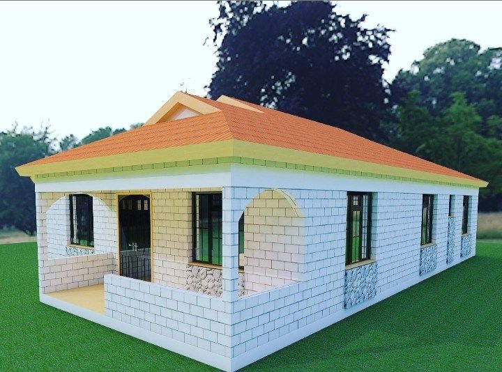 3 Bedroom House Plan Muthurwa Com Architectural House Plans Architectural Design House Plans Bedroom House Plans