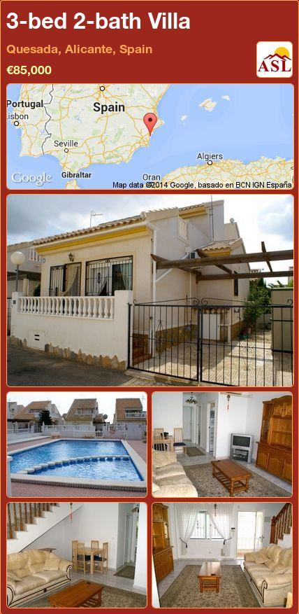 3-bed 2-bath Villa in Quesada, Alicante, Spain ►€85,000 #PropertyForSaleInSpain