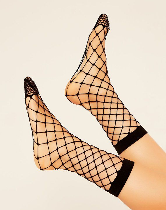 Mega Fishnet Sock Black