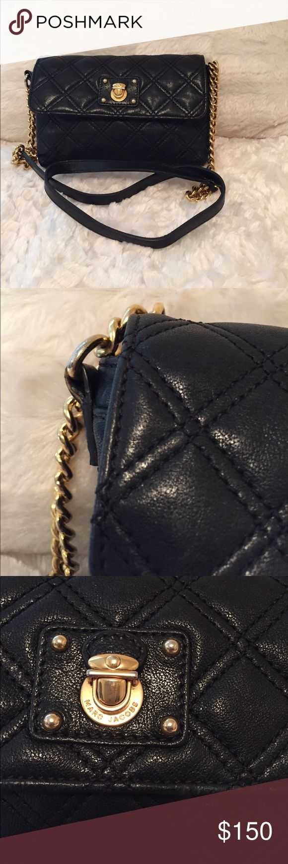 Marc Jacobs - The Single Quilted Crossbody Used Marc Jacobs- some ware and tear on side strip as shown in pic. Black with gold hardware and I do have the dust bag. Marc by Marc Jacobs Bags Crossbody Bags