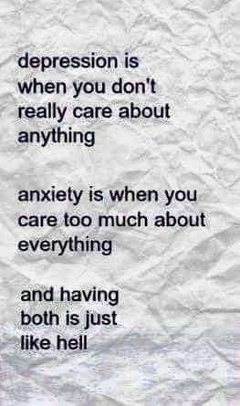 Anxious-depressive, how funny, now it all makes sense...