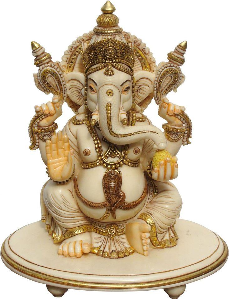 Ganesha With Ivory Finish