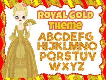 Royal Gold Theme: 100 Alphabet, Numbers and Symbols clip arts (polka dot red) 100 images of high-quality royal gold clip arts of the Alphabet, Numbers, and Symbols.Make your TPT products attractive with these royal gold clip arts. All images are in PNG format with transparent backgrounds.Each clipart has red polka dot background.