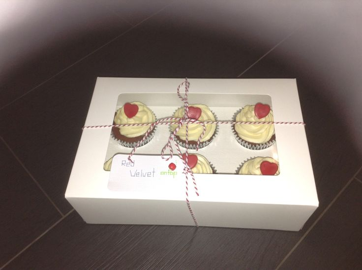 Red velvet cupcakes by cherry on top