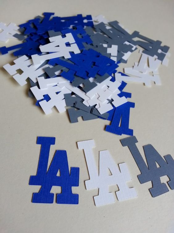 MLB  Dodgers JUMBO Table Confetti  100 Pieces by GigisShop805