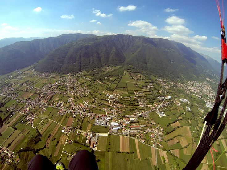 Great view on Southern side of Mount Grappa. Photo by Montegrappa Tandem Team.