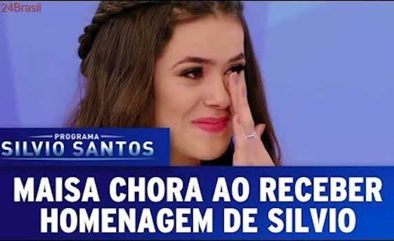 Maisa chora ao receber homenagem de Silvio Santos   Programa Silvio Santos (25/06/17)