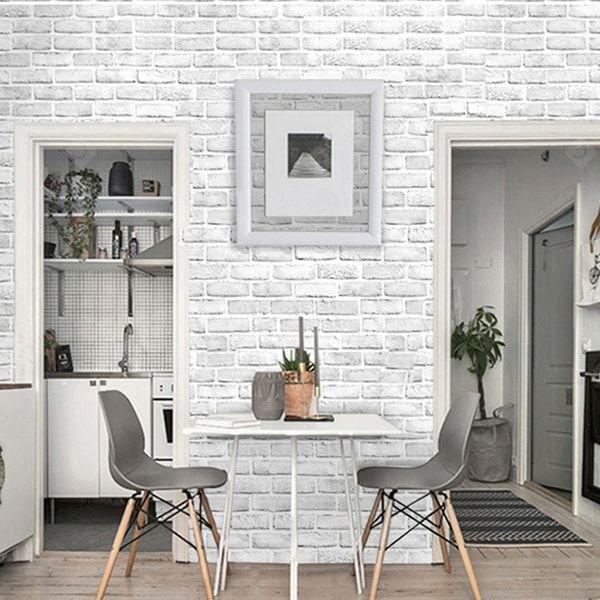 Buy Decoration D Interieur D Autocollant Mural De Texture De Brique 3d At Cheap Price White Brick Wallpaper Brick Wallpaper Kitchen Brick Wallpaper Living Room