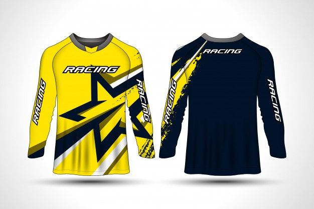 Download Long Sleeve T Shirt Sport Motorcycle Jer Premium Vector Freepik Vector Sport Motorcycle Sports Jersey Design Sport Motorcycle Long Sleeve Tshirt Men
