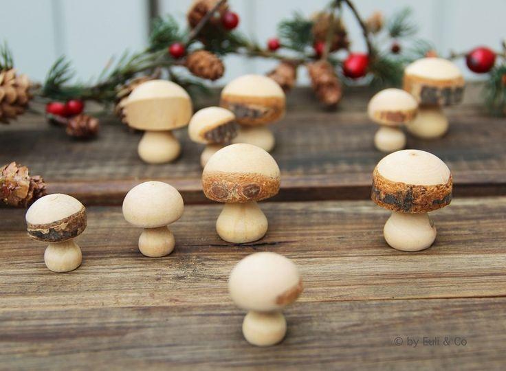 Pilze+aus+Holz+/+15+St.++von+Euli+&+Co+auf+DaWanda.com