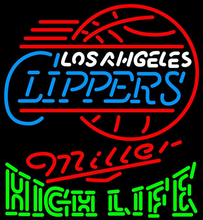 High Life Neon Logo Los Angeles Clippers NBA Neon Sign 2 0011, Miller High Life with NBA Neon Signs | Beer with Sports Signs. Makes a great gift. High impact, eye catching, real glass tube neon sign. In stock. Ships in 5 days or less. Brand New Indoor Neon Sign. Neon Tube thickness is 9MM. All Neon Signs have 1 year warranty and 0% breakage guarantee.