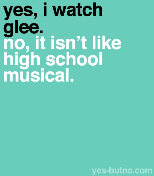 Haha thank you! I love hsm and I love glee but they are nothing like each other!
