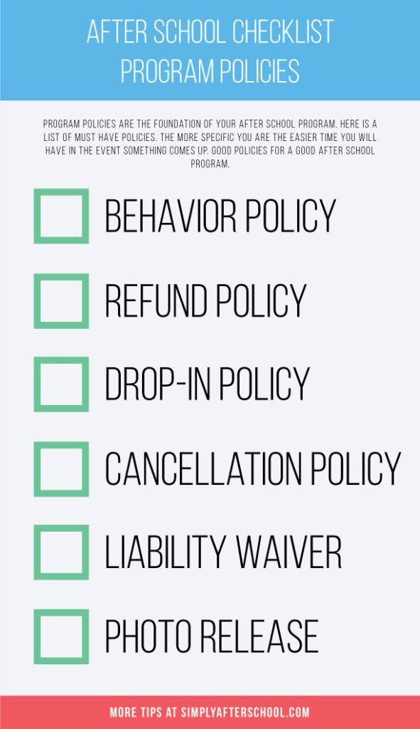 After School Marketing and Promotion Checklist After School - refund policy