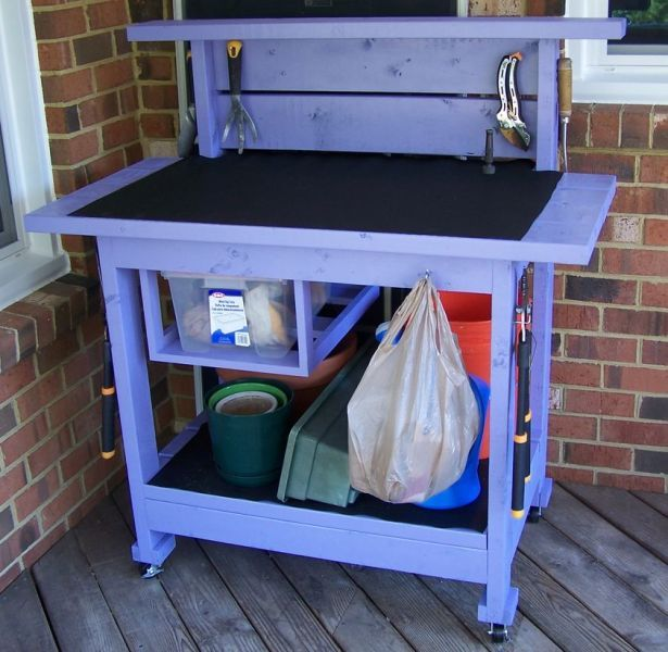 Potting bench from the kreg owners 39 community kregjig for Garden potting bench designs