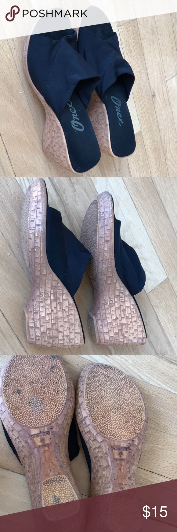 Onex Italian wedges size 9. Neoprene comfort. Onex Italian made neoprene fabric for extra comfort. Size 9 Onex Shoes