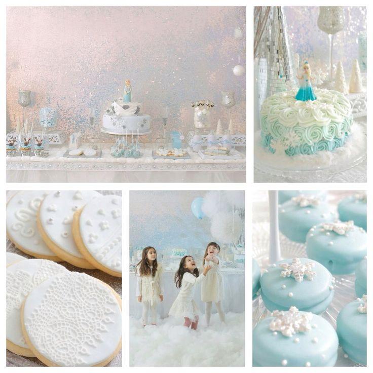 The most beautiful Disney FROZEN birthday party I have ever seen! Kara's Party Ideas KarasPartyIdeas.com #frozen