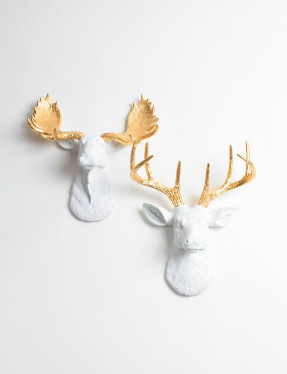 Witte Faux taxidermie Minis Gift Set  Faux door WhiteFauxTaxidermy