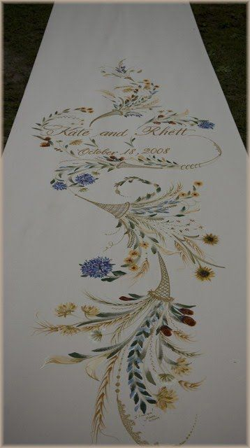 hand painted aisle runner - Google Search