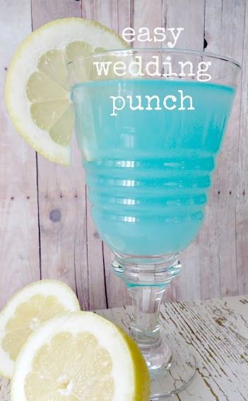Easy Tiffany Blue Wedding Punch